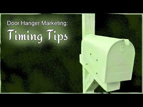 Door Hanger Marketing: Timing Tips