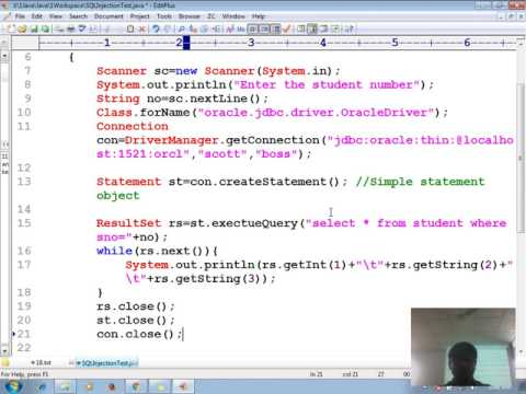 20 Advanced java tutorial | JDBC | What is SQL injection? | adv java