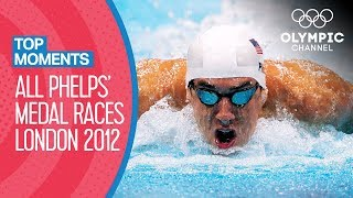 ALL Michael Phelps' Olympic Medal Races from London 2012 | Top Moments