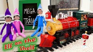 Elf on the Shelf! Buddy the Elf Brings World's Longest Christmas Train Tracks!