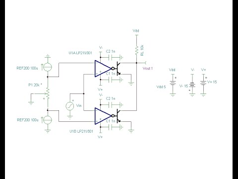 Online Circuit Simulation of a Comparator Window Settings