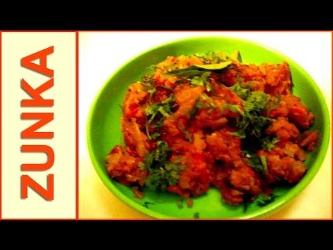zunka bhakar recipe in hindi (with onion & tomato gravy) recipe by mangal