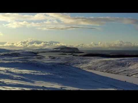 Snowy Bigton Shetland Islands