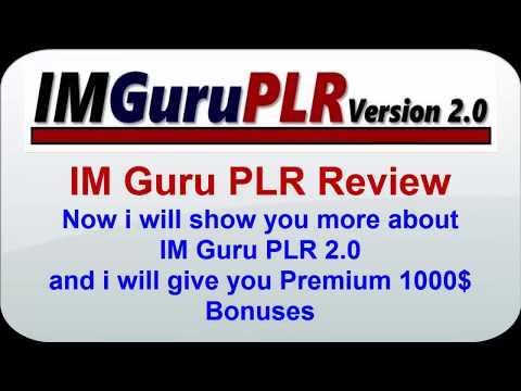 IM Guru PLR 2.0 Youtube Video | IM Guru PLR 2.0 Special Offer and Huge Bonus