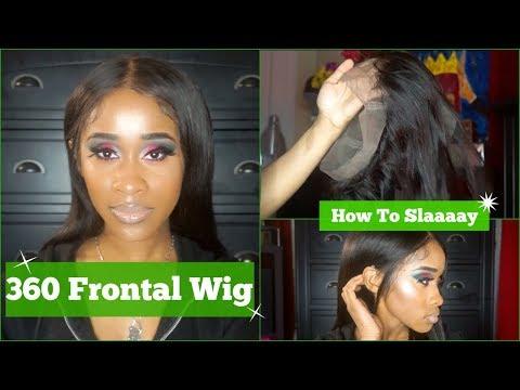 360 Frontal   (EASY) Wig Tutorial   Jennifer King Hair  NaeandNea