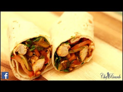 Jerk Chicken Wraps With Salad One Of The Best In The World | Recipes By Chef Ricardo