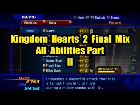 Kingdom Hearts 2.5 HD Remix - All Abilities Demonstration Part 2