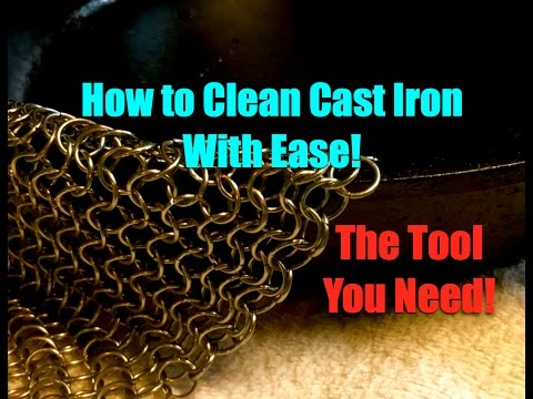 Cleaning Cast Iron with Ease~The Tool You Need!