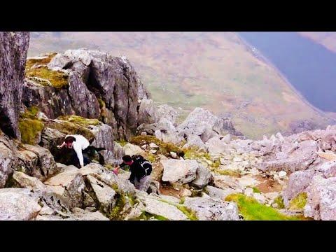 A walk up Tryfan, North Ridge, Snowdonia, 29 April 2014. Pretty intense!