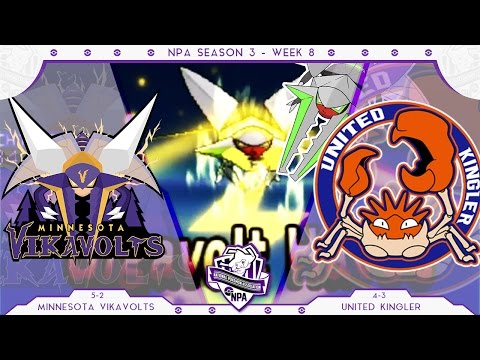 GIGAVOLT VIKAVOLT! | Minnesota Vikavolts VS United Kinglers Week 8 NPA S3  | Pokemon Sun Moon