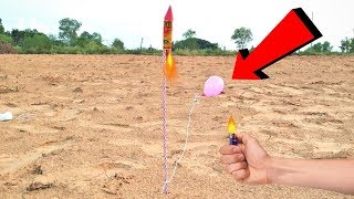 Balloon Attached to Diwali Rocket | Crazy Diwali Experiment |