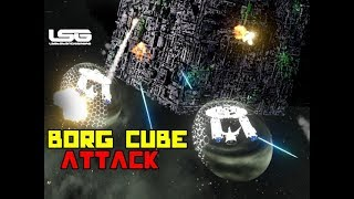 Fleet Attack On Borg Cube Star Trek - Space Engineers