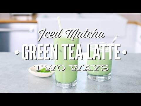 Homemade Iced Matcha Green Tea