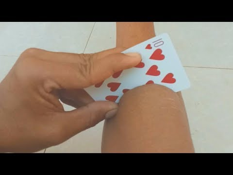 How to make Magic Card Cut hand Very simple, Card trick Tutorial