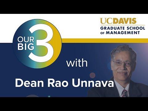 Dean Unnava's Big 3 Video   Mar. 2018   UC Davis Graduate School of Management