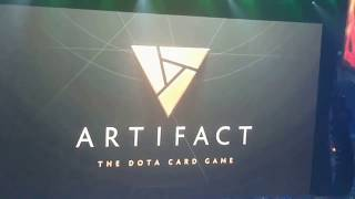 Artifact new game announcement from Valve crowd reaction