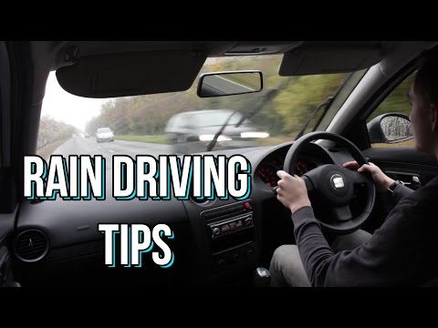 How to Drive in the Rain - Tips and Tricks