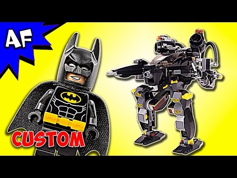 Custom Lego Batman Movie MECH BOT Rebrick 70908+76029 Speed Build