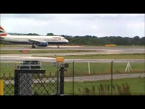 British Airways A320 Landing at Manchester