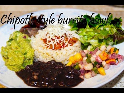 Chipotle style burrito bowl | Veggie burrito bowl