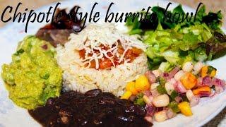 Chipotle style burrito bowl   Veggie burrito bowl