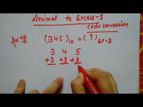 Decimal to Excess 3
