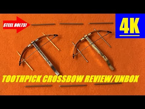 Mini TOOTHPICK CROSSBOW Review Unboxing & STEEL BOLTS! 4K