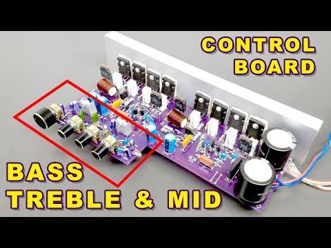 Bass, Treble, Mid & Volume Control Board for 400 Watts Stereo Audio Amplifier (Hindi) ELECTRO INDIA