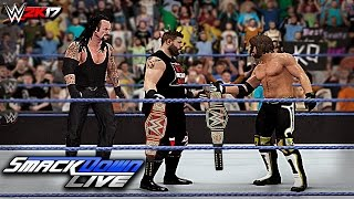 WWE 2K17 Custom Story - Kevin Owens Invades SMACKDOWN LIVE ft. John Cena, Styles, Taker (PS4 & XB1)