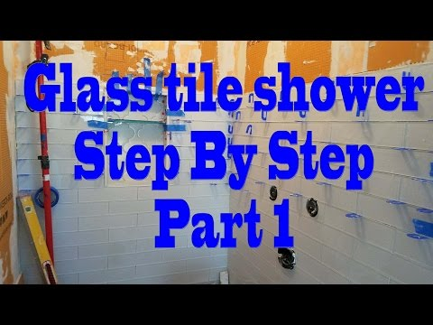 All glass tile Shower, step by step, Part 1 Installing Backer Board, Schluter.