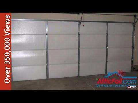 Garage Door Insulation - DIY Radiant Barrier