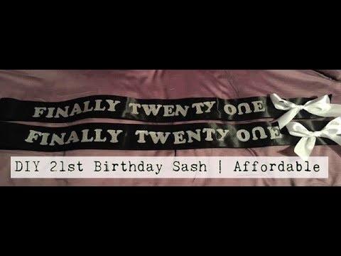 DIY 21st Birthday Sash | Easy & Affordable | $7