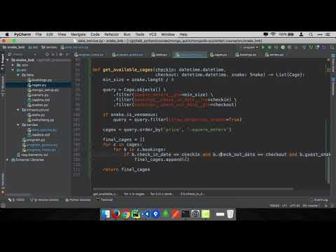 MongoDB and Python Quickstart (13/21): Demo: Book a cage as a guest