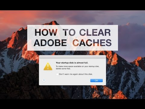 How to Clear Space on your Mac FAST (Empty Adobe Caches)