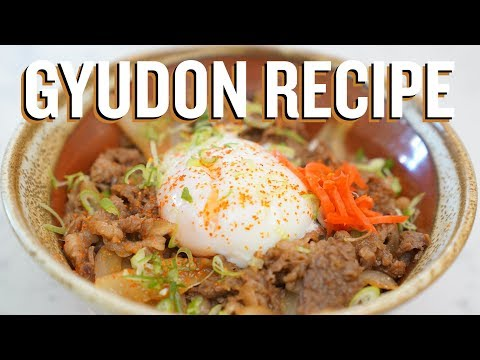 How to make Gyudon (Japanese Beef Bowl Recipe)