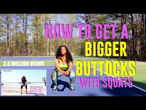 Following My Old Fitness Video HOW TO GET A BIGGER BUTT WITH SQUATS