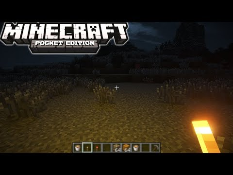 Minecraft PE 1.4 Dynamic Lights (Light When You Hold A Torch)
