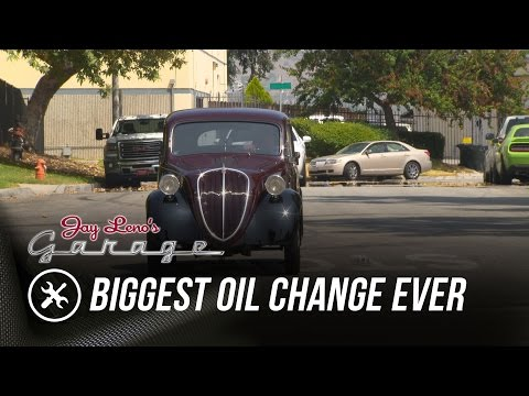 Biggest Oil Change Ever - Jay Leno's Garage
