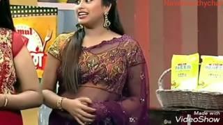 Farina Azad Deep Navel treat in Saree