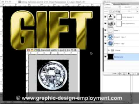 Photoshop Tutorial - How to Make Bling Text