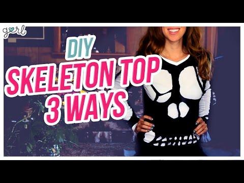 Do It, Gurl – DIY Skeleton Shirt