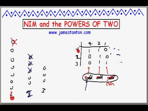 Nim and the Powers of Two (Tanton Mathematics)