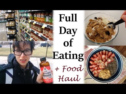 FULL DAY OF EATING #4 + GROCERY HAUL | Anorexia Recovery