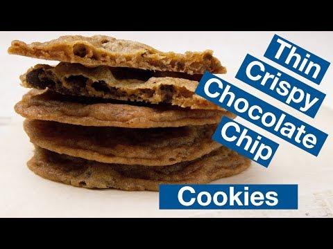 Thin Crispy Chocolate Chip Cookie Recipe || Le Gourmet TV Recipes