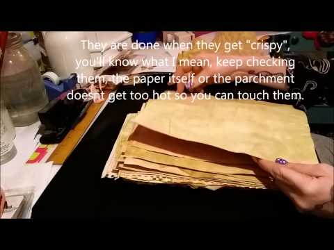 Tutorial: How To Make Coffee or Tea Dyed/Stained Paper