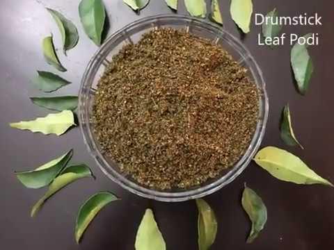 Drumstick Leaf Podi | Moringa Powder | Munagaku Podi | Murungai Keerai Podi