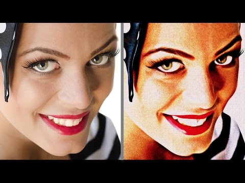 """Photoshop Tutorial: Transform Photos into vintage, 1950s paintings with  """"Retro Paint"""" Action"""
