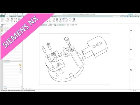 Explosion - Siemens NX 10 Training - Drafting & Assembly