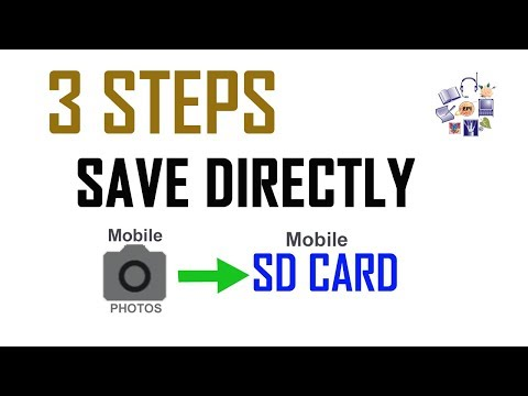 How to set SD card as default storage location of Camera's photograph  & Video