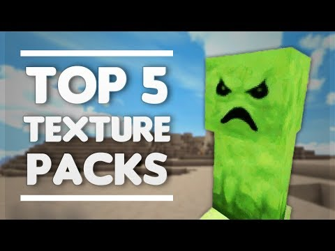 MCPE - TOP 5 TEXTURE PACK  2018